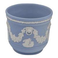 England Wedgwood Jasperware Jardinere Unglazed Pottery Signed