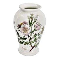 Portmeirion Fine Botanic Gardens Floral DOG ROSE Small Porcelain Vase