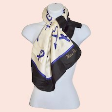 Paloma Picasso Silk Signature Hearts Kisses Iconic Scarf