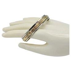 Navajo Artisan 12K Gold Filled Sterling Storyteller Cuff Bracelet Signed