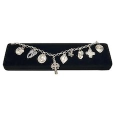 Guardian Angel Sterling Silver Christian Charm Bracelet