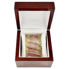 Mixed Metals Laton Cabre Copper Brass Mexican Cuff Bracelet