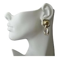 Gucci Earrings Large Sterling 18K Gold Doorknocker Pierced Earrings