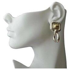 Gucci Earrings Large Sterling 18K Gold Doorknocker Pierced Earrings