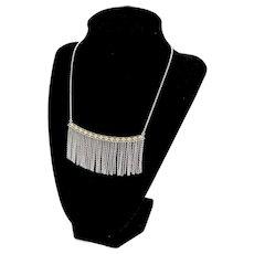 Retired Silpada Sterling Silver Fringe Bib Necklace