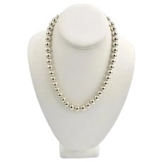 Classic Tiffany & Co Sterling Silver Single Strand Ball Bead Necklace