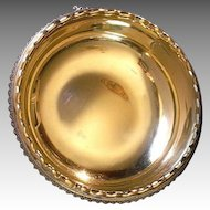 "Antique Sterling Silver Gold Wash ""Pint"" Bowl By Charles L. Tiffany"