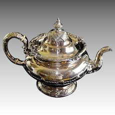 Antique Georgian Tiffany & Co Soldered Silver Plate Ornate Teapot