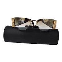 Vintage Daniel Swarovski Jeweled Glasses Silk Case