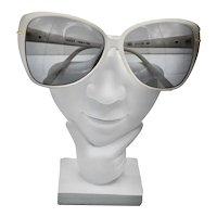Vintage 80's GUCCI White Gold Trim Gradient Sunglasses Case
