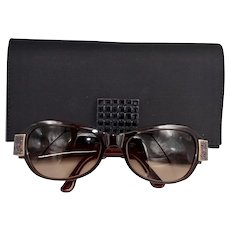 Daniel Swarovski Gradient Lens Jeweled Wine Color Sunglasses
