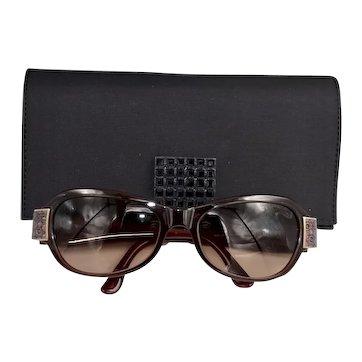 Daniel Swarovski Gradient Lens Jeweled Wine Color Sunglasses