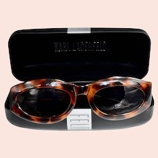 France Karl Lagerfeld Bold Men's Tortoise Gold Plate Designer Sunglasses