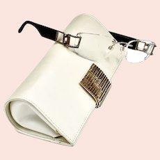 Luxury Jeweled Daniel Swarovski Clear Lens Eyeglasses / Case