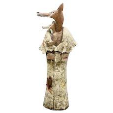 Coyote Mother Art Sculpture Sante Fe Signed