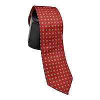 Boston Traders Men's Silk Necktie Contemporary Paisley Print