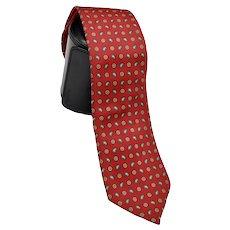 Boston Traders Men's Silk Necktie Contemporary Paisley Print