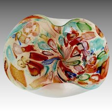 Murano Fratelli Toso Opalescent Geo Shaped Art Bowl