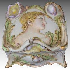 Vintage W.B. Mfg Art Nouveau Romanesque Style Casket Box