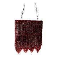 Retired Mary Francis French Glass Bead Flapper Style Handbag Crossbody Chain Strap