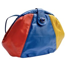 LaViers St Armand Resort Color Blocked Leather Handbag Cross-Body