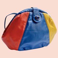 LaViers St Armand Resort Color Blocked Leather Handbag Cross-Body