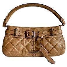 Classic Burberry Prorsum Handbag Quilted Tan Clutch Designer Handbag