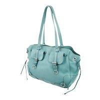 Italy Large Designer Travel Vitello Satchel PRADA Pebble Leather Handbag