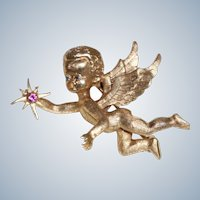 Estate 14 K Angel/Cherub PIN