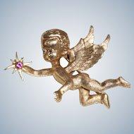Estate 14 K Angel/Cherub PIN