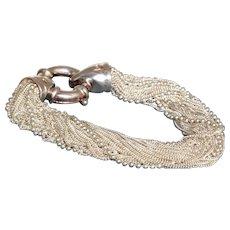 Estate Sterling Multi Strand Bracelet Italy