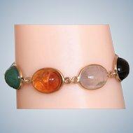 Estate 14 K Scarab Bracelet