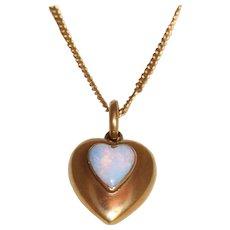 15C 1896 Chester, England Opal Heart Pendant