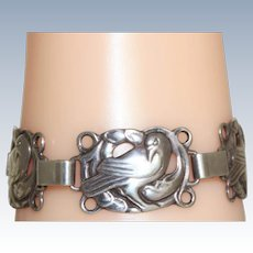 Vintage Sterling Dove Bracelet