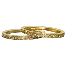 Estate 18 K Yellow Diamond Guard Bands