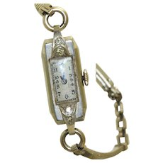 1930's 14 K Croton Swiss Diamond Women's Watch