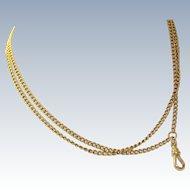 "Estate 32"" 14 K Women's Watch End Necklace"