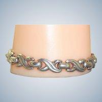Estate Italian Sterling Silver 'X' Kisses Bracelet
