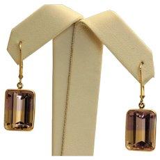 14K Ametrine Dangle Earrings