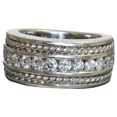 Estate 14K Retired Sonia B. Diamond Half Eternity Band