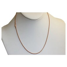"Estate 17"" Rose Gold Woven Chain"