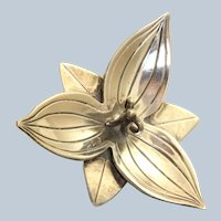 Estate Sterling Lily Pin