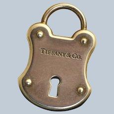 Estate Retired Tiffany Lock Charm Pendant