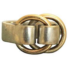 Estate Hermes 18K/Sterling Buckle Ring