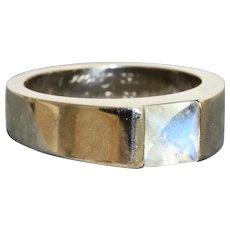 Estate Cartier Moonstone Tank Ring