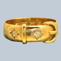 18K English 0.20 CTW Diamond Buckle Ring Birminham