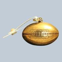 14K Vintage  Solid Football Charm