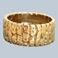 1968 Birmingham 9 CT Textured Band Ring