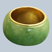 Estate 14K Wide Jade Band