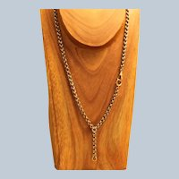 Estate Victorian 14K  Rose Gold Rolo Watch Chain/Necklace